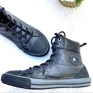 Converse High Top Black Boot Sneakers Storm Wind